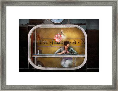 Window - Hoboken Nj - Hale And Hearty Soups  Framed Print by Mike Savad