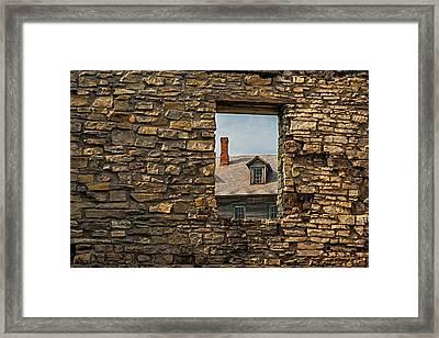 Window In A Window Framed Print