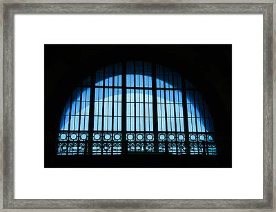 Framed Print featuring the photograph Window In Chattanooga Train Depot by Susan  McMenamin