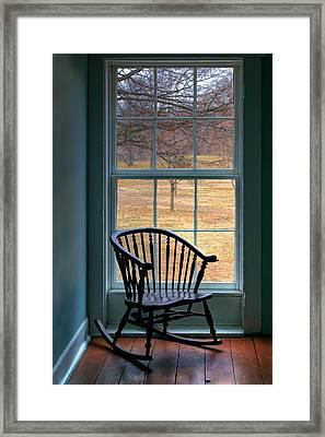 Window In Florissant Framed Print by Nikolyn McDonald