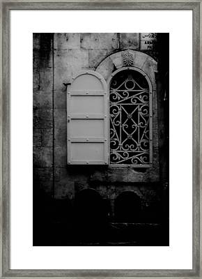 Window In Israel Framed Print by Doc Braham