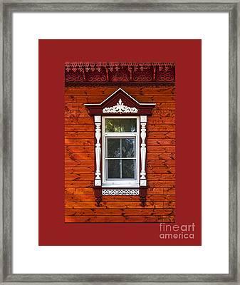 Window In Red Framed Print