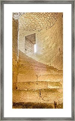 Window In Spiral Staircase Framed Print
