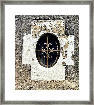 Window In Tour France Framed Print