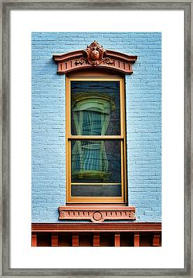 Framed Print featuring the photograph Window In Window In Red Bank by Gary Slawsky