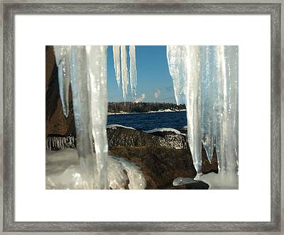 Framed Print featuring the photograph Window Into Minnesota by James Peterson