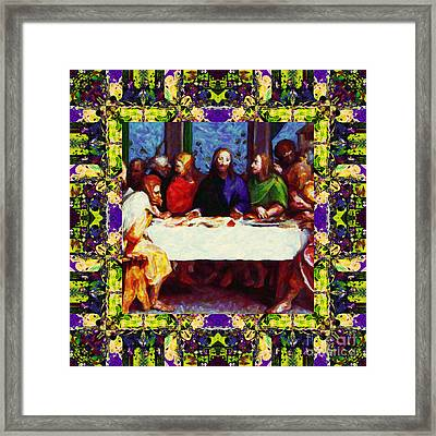 Window Into The Last Supper 20130130m138 Framed Print by Wingsdomain Art and Photography