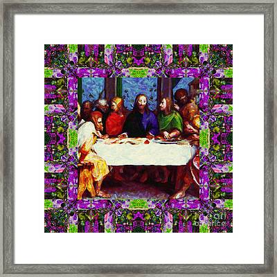 Window Into The Last Supper 20130130p68 Framed Print by Wingsdomain Art and Photography