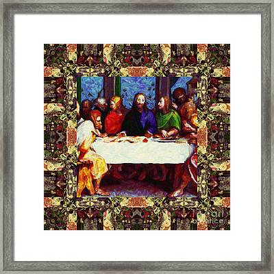 Window Into The Last Supper 20130130sep Framed Print by Wingsdomain Art and Photography