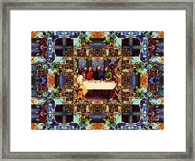 Window Into The Last Supper 20130130v2-horizontal Framed Print by Wingsdomain Art and Photography
