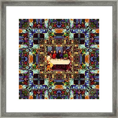 Window Into The Last Supper 20130130v2 Framed Print by Wingsdomain Art and Photography