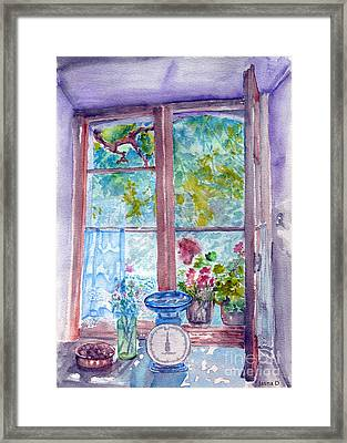 Framed Print featuring the painting Window by Jasna Dragun