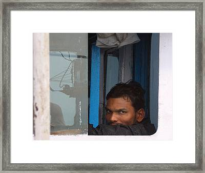 Window Man Framed Print