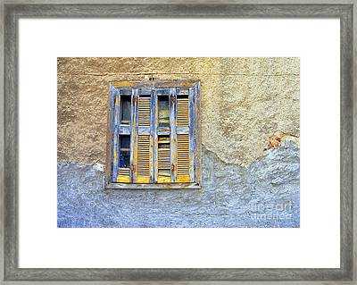 Window Nafplio Framed Print by A K Dayton