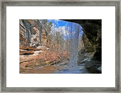 Window Of A Waterfall Framed Print by Kathleen Scanlan