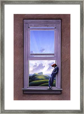 Window Of Dreams Framed Print by Jerry LoFaro