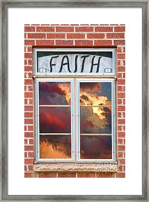Window Of Faith Framed Print by James BO  Insogna