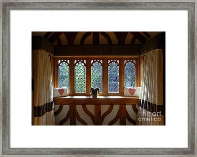 Window Of Hearts Framed Print