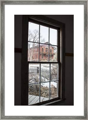 Window Of History  Framed Print by Fran Riley