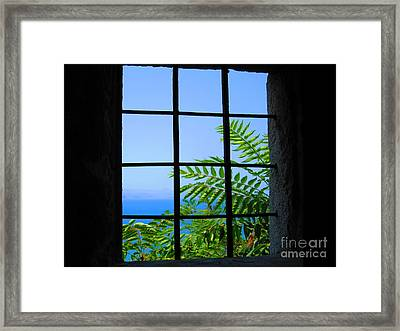 Framed Print featuring the photograph Window Of Hope by Andreas Thust
