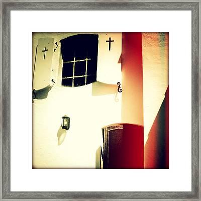 Window Of Hope I Sunset Framed Print