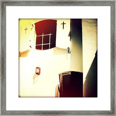 Window Of Hope II Sunset Framed Print