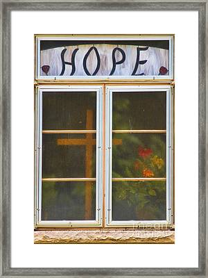 Window Of Hope Framed Print by James BO  Insogna