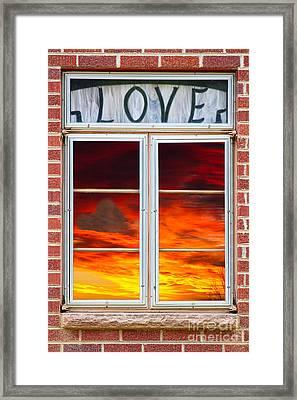 Window Of Love Framed Print