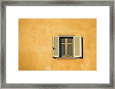 Window Of Rome Framed Print