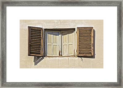 Window Of Tuscany Framed Print