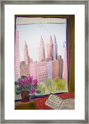Window On Central Park South Framed Print by Tatjana Krizmanic