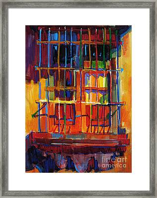 Window On Hot Day Framed Print