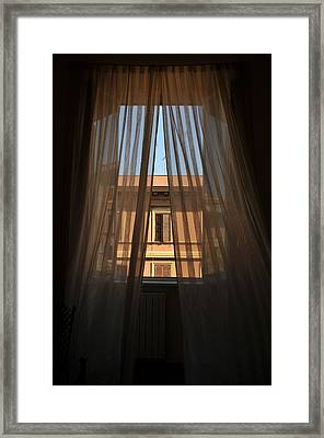 Window On Rome Framed Print