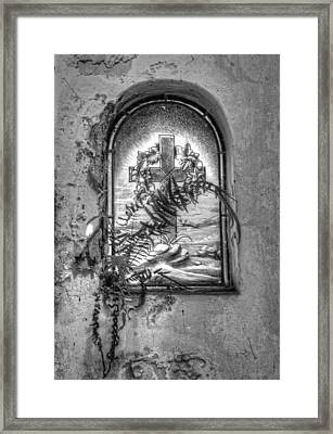 Window On The Crypt Framed Print