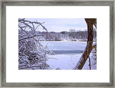 Window On The Lake Framed Print by Jim Baker