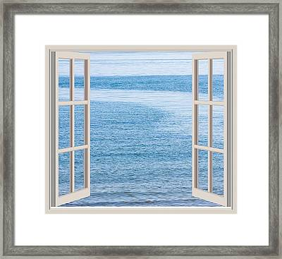 Window On The Sea Framed Print by John Vito Figorito