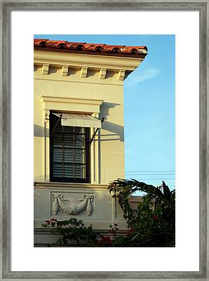 Window On Worth Framed Print