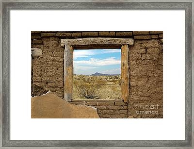 Window Onto Big Bend Desert Southwest Landscape Framed Print by Shawn O'Brien