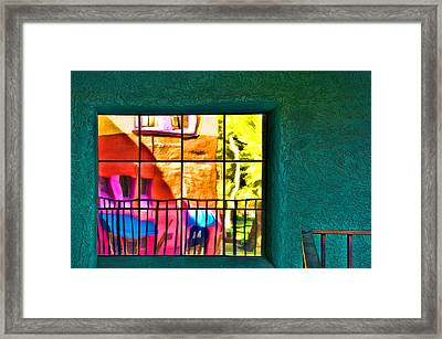 Window Painting Framed Print by Maria Coulson