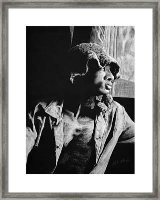 Window Pane Framed Print by Jay Alldredge