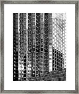 Window Patterns Framed Print
