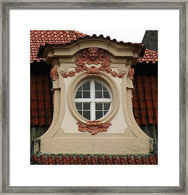 window Prague Framed Print