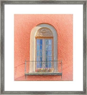 Window Reflection Framed Print