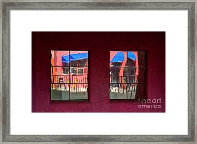 Window Reflections Framed Print by Vivian Christopher