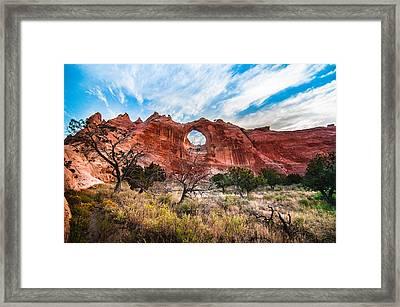 Window Rock At Sunrise Framed Print by Erica Hanks
