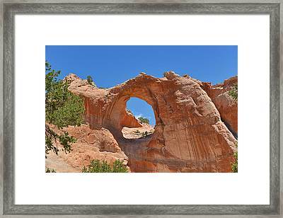 Window Rock In Window Rock Az Framed Print by Christine Till