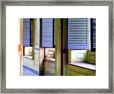 Window Seats Framed Print