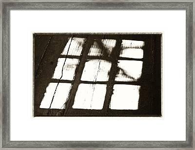 Window Shadow Framed Print by Craig Brown