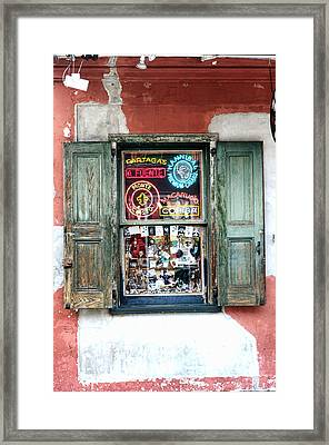 Window Shop Framed Print by Kenneth Feliciano