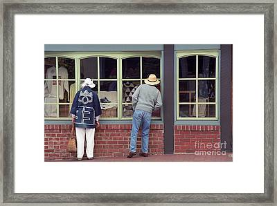 Framed Print featuring the photograph Window Shoppers by James B Toy
